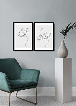 Tablou decorativ, Alpyros, MDF 100 procente, PVC100 procente, 2 piese, 74 x 51 cm, 841APY2106, Multicolor de la Alpyros