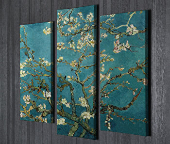 Tablou decorativ, Vega, Canvas 100 procente, lemn 100 procente,66 x 45 cm, 2 piese, 265VGA1150, Multicolor