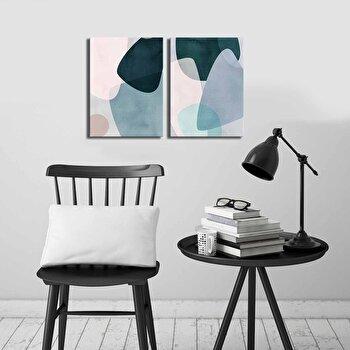Tablou decorativ, Canvart, Canvas, lemn 100 procente, 2 piese, 58 x 38 cm, 249CVT1393, Multicolor de la Canvart
