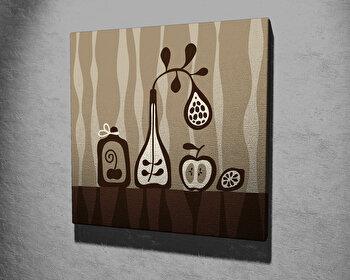 Tablou decorativ, Vega, Canvas 100 procente, lemn 100 procente, 45 x 45 cm, 265VGA1088, Multicolor
