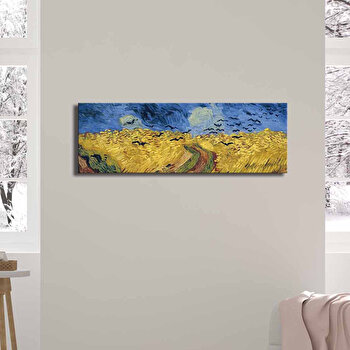 Tablou decorativ, Canvart, Canvas, 30 x 90 cm, lemn 100 procente, 249CVT1382, Multicolor de la Canvart
