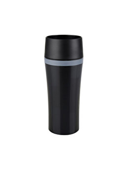 Termos calatorie Tefal, plastic, 0.36 L, K3071114, Negru