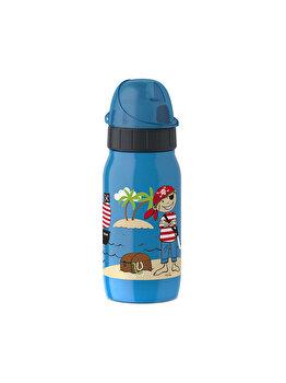 Recipient apa pentru copii Tefal, KIDS PIRATE, 0.35 L, K3180312, Albastru