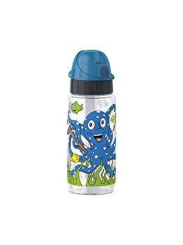 Sticla apa pentru copii Tefal Tritan Caracatita, 0.5 L, K3171212, Albastru de la Tefal
