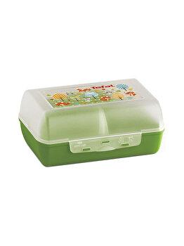 Caserola pentru copii TEFAL, compartimentata, Variabolo Vulpe, plastic, K3160414, Verde de la Tefal