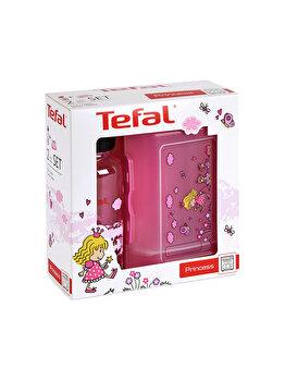 Set Tefal sticla de apa si recipient mancare pentru copii, K3169114, Roz de la Tefal