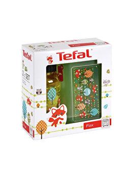 Set Tefal sticla de apa si recipient mancare pentru copii, 0.7 L, plastic, K3169414, Multicolor de la Tefal