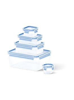 Set 5 caserole TEFAL Clip&Close, 0.15-3.7 L, plastic, K3029012, Albastru de la Tefal