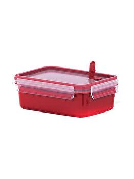 Caserola TEFAL Clip Micro, 0.8 L, plastic, rosu, K3102112, Rosu de la Tefal