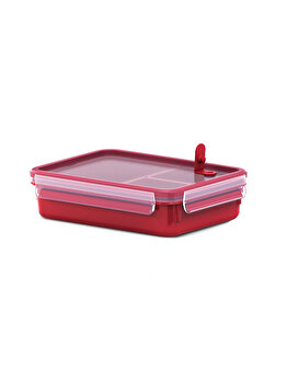 Caserola compartimentata TEFAL Clip Micro, 1.2 L, plastic, K3102412, Rosu de la Tefal