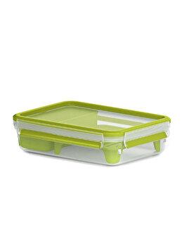 Cutie pentru depozitare Tefal, cu capac si compartiment, 1.2 L, K3100312, Verde