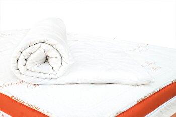 Protectie de saltea Green Future Wool 140 x 200 cm, lana Merinos, Alb de la Green Future