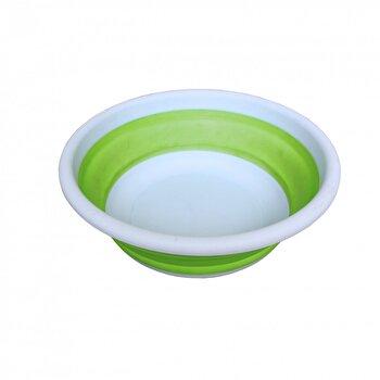 Bol pliabil, Jocca, din silicon, 38 cm, Verde/Alb de la Jocca