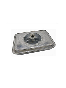 Tava cuptor cu capac Vanora, inox, 39 x 29 x 7 cm, VN-FM-SS4030, Argintiu