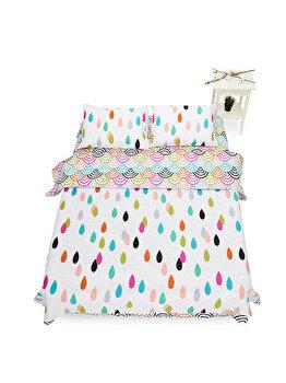 Lenjerie de pat pentru 2 persoane Heinner Home, bumbac, 4 piese, 144 TC, HR-KGBED144-CLR, Multicolor de la Heinner