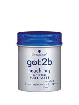 Pasta modelatoare pentru par got2b Beach Boy, cu efect de matifiere si nivel 3 de fixare, 100ml de la Got2B