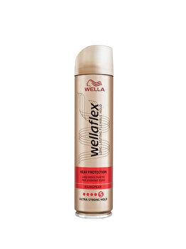 Fixativ Wella Wellaflex Heat Protection pentru fixare foarte puternica, 250 ml de la Wellaflex