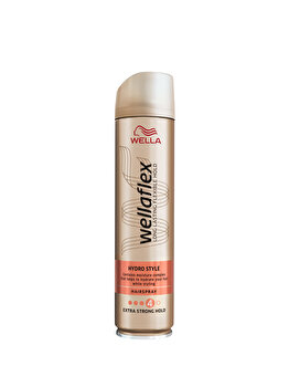 Fixativ Wella Wellaflex Hydro Style pentru fixare puternica, 250 ml de la Wellaflex
