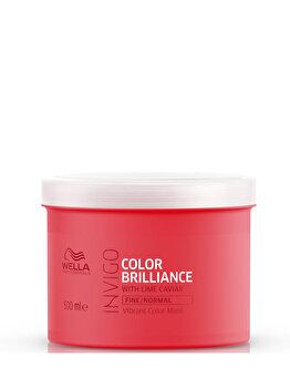 Masca pentru par vopsit cu firul de par subtire Invigo Brilliance Fine, 500 ml de la Wella Professionals