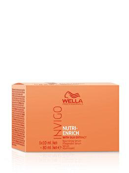 Ser pentru par uscat Invigo Nutri Enrich, 8 fiole x 10 ml de la Wella Professionals