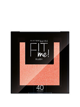 Maybelline New York Fit Me Blush Fard de obraz – 4.5g, 40 Peach de la Maybelline