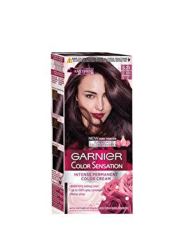 Vopsea de par permanenta cu amoniac Garnier Color Sensation cu pigmenti intensi 5.21 Ametist Inchis de la Garnier