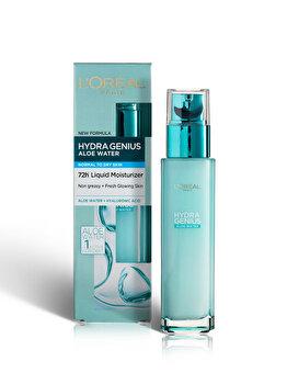 L Oreal Paris Hydra Genius Crema fluida hidratanta 72h* cu Apa de Aloe pentru ten normal si uscat -70 ml de la L Oreal Paris