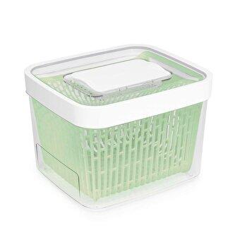Recipient pentru pastrarea alimentelor OXO, 20 x 21.3 x 15.3 cm, 4 l, 11140000, Verde/Alb de la Oxo