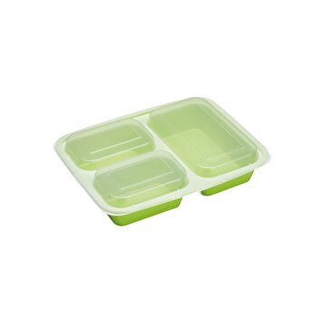Caserola cu 3 compartimente Kitchen Craft, plastic fara BPA, KCHELUNCHPK5, Verde de la Kitchen Craft
