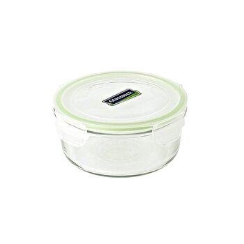 Caserola Glasslock, 660 ml, sticla, MCCB072, Transparent/Verde de la Glasslock