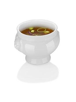 Bol supa, Hendi Lionhead, 138 x 95 mm, 500 ml, portelan super-rezistent, 784754, Alb de la Hendi