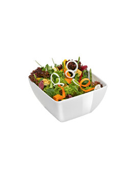 Bol patrat pentru salata, Hendi, 130 x 130 mm, 561560, melamina, Alb