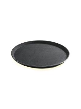 Tava servire rotunda, Hendi, polipropilena cu suprafata cauciuc anti-alunecare, 878149, Negru de la Hendi