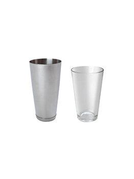 Pahar pentru amestecare, Hendi, model Boston, sticla, 0.45 L, 593066, Gri de la Hendi