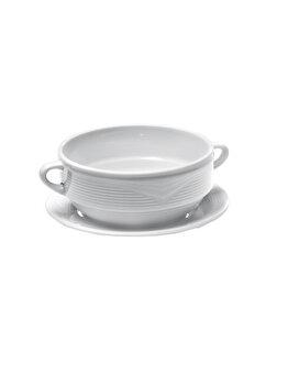 Farfurie pentru bol supa, Hendi SATURN, 180 mm, 794456, portelan, Alb de la Hendi