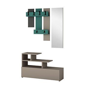 Set mobila hol, Homitis, 630 x 61 x 100 cm, pal melaminat, 776HMS4039, Multicolor de la Homitis