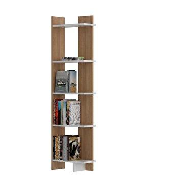 Biblioteca, Zena Home, 45 x 170 x 22 cm, pal melaminat, 875ZNA3605, Maro de la Zena Home