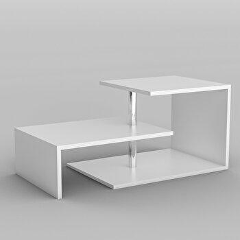Masa pentru cafea Kalune Design, melamina, 100 x 46 x 50 cm, 854KLN2802, Alb de la Kalune Design