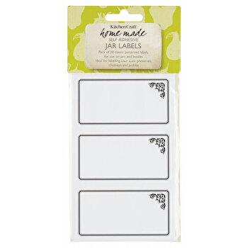 Set 20 etichete adezive Kitchen Craft, KCJLAB6, Alb de la Kitchen Craft