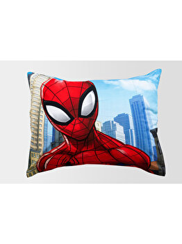 Lenjerie pat SpiderMan, 1 persoana, Marvel, 100% bumbac, 84-BEDB-07SP-SG, Multicolor