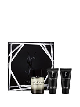Set cadou Yves Saint Laurent La Nuit de L'Homme (Apa de toaleta 100 ml+ After shave balsam 50 ml+ Gel de dus 50 ml ), pentru barbati de la Yves Saint Laurent
