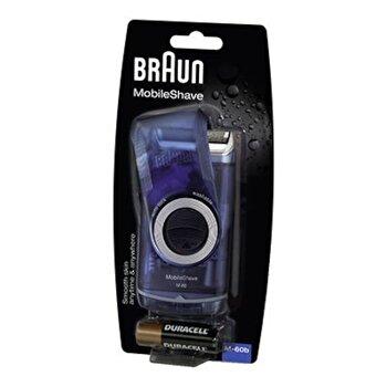 Aparat de ras Braun MobileShave M-60R, Lavabil, acumulatori de la Braun