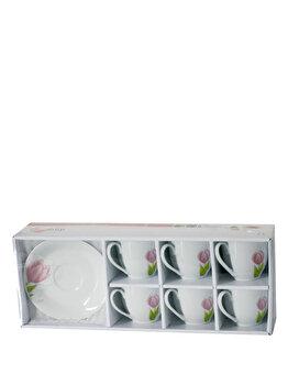 Set 12 piese, pentru servirea cafelei – Tulipan, Domotti, 63195, Alb de la Domotti