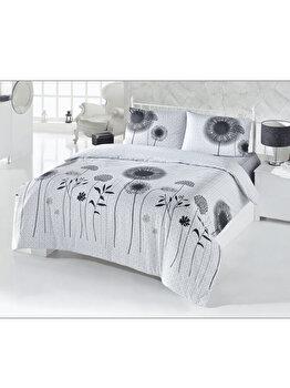 Lenjerie double de pat – White and Black Victoria, 121VCT2419, Gri de la Victoria