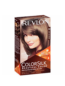 Vopsea de par ColorSilk, 50 Light Ash Brwon, 100 ml de la Revlon