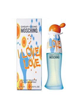 Apa de toaleta Moschino I Love Love, 50 ml, pentru femei de la Moschino