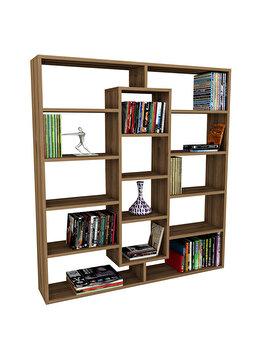 Biblioteca, Wooden Art, 125×135.7×22 cm, pal melaminat, Nuc de la Wooden Art