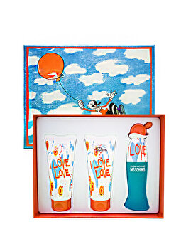 Set cadou Moschino I Love Love (Apa de toaleta 50 ml + Gel de dus 100 ml + Lotiune de corp 100 ml), pentru femei de la Moschino