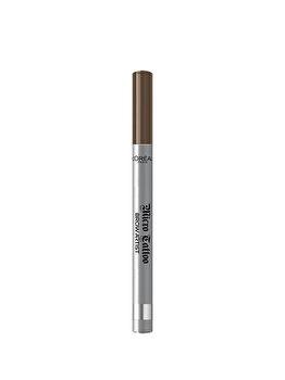 Creion de sprancene cu varf tip carioca L'Oreal Paris Brow Artist Micro Tattoo, 105 Brunette, 5 g