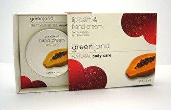 Set cadou (balsam de buze si crema de maini cu papaya), Greenland de la Greenland
